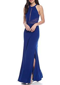 Morgan & Co Long Cobalt Gown