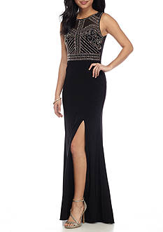Morgan & Co Beaded Top Gown
