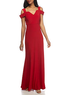 Nightway Cold Shoulder Jersey Gown