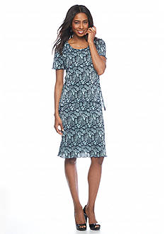 Connected Apparel Printed Popover Dress
