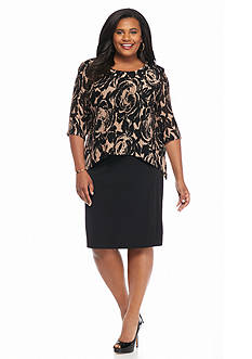 Connected Apparel Plus Size Popover A-line Dress