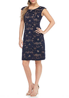Connected Apparel Lace Shift Dress
