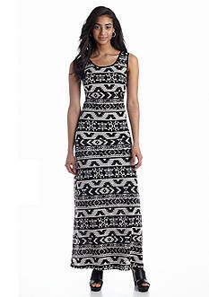 Beige by ECI Printed Maxi Dress
