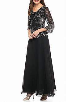 JKARA Mock Two-Piece Gown