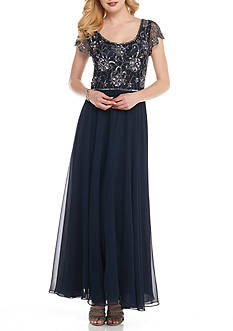 JKARA Empire Beaded Gown