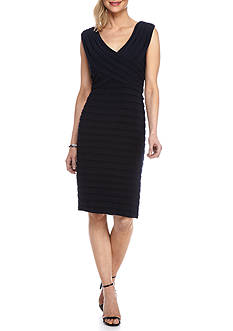 Xscape Pleated Sheath Dress