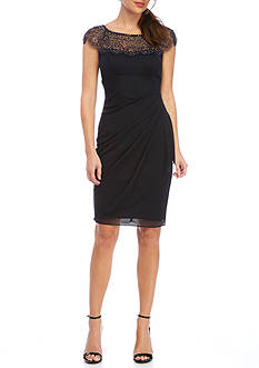 Xscape Beaded Jersey Dress