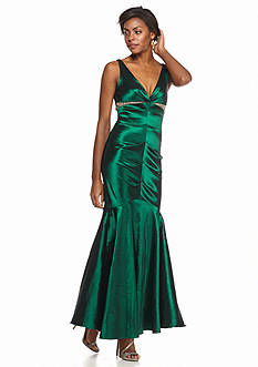 Xscape Bead Embellished Taffeta Gown