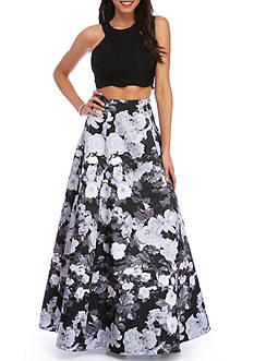 Xscape Floral Two Piece Gown
