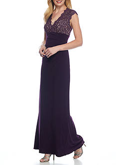 Xscape Lace Yoke Jersey Gown