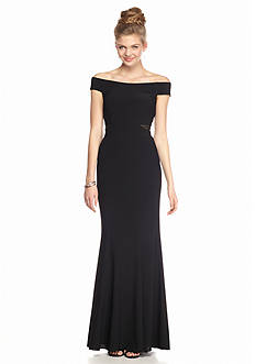 Xscape Off The Shoulder Gown