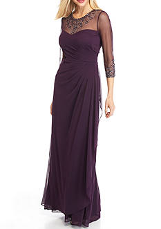 Xscape Bead Embelished Gown