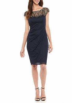 Xscape Bead Embellished Cocktail Dress