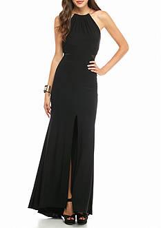 Xscape Choker-Neckline Jersey Gown