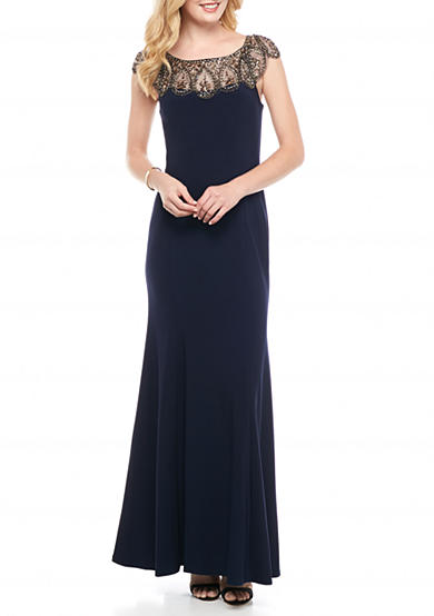 Xscape Beaded Embellished Gown
