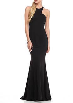 Xscape Cutaway Halter Gown