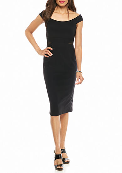 Xscape Off the Shoulder Sheath Dress