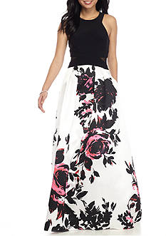 Xscape Floral Ball Gown