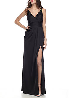 Xscape Cross Strap Satin Gown