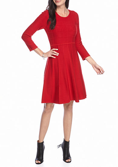 J Howard Fit and Flare Sweater Dress