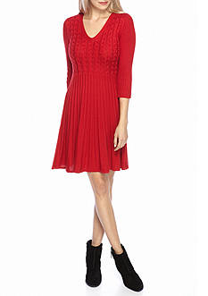 J Howard Ribbed Sweater Dress