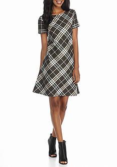 J Howard Plaid A-line Dress