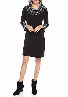 J Howard Cowl-Neck Sweater Dress