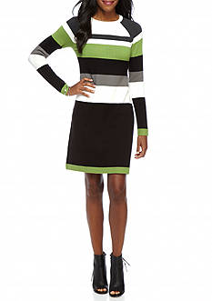 J Howard Striped Sweater Dress