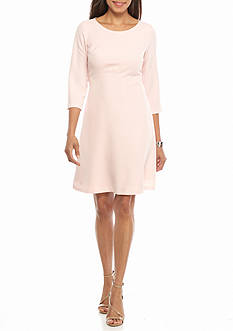 J Howard Solid A-Line Dress
