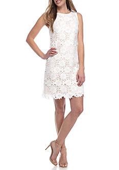 J Howard Lace Sleeveless Shift Dress