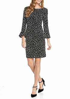 Laura Jeffries Polka Dot Printed Shift Dress