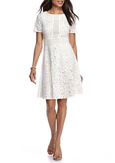 J Howard Short Sleeve Lace Sheath Dress