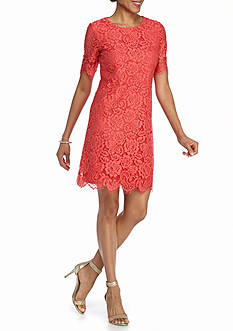 J Howard Floral Lace Sheath Dress