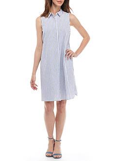 Jessica Howard Stripe Shirt Dress