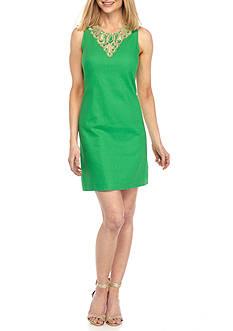 J Howard Lace Trim A-Line Dress