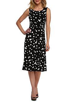Laura Jeffries Polka Dot A-Line Dress