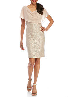 Jessica Howard Lace Sheer Overlay Dress