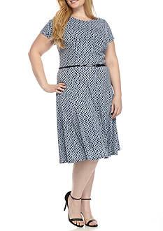 J Howard Plus Size Belted Dress