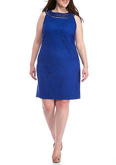J Howard Plus Size Lace Shift Dress
