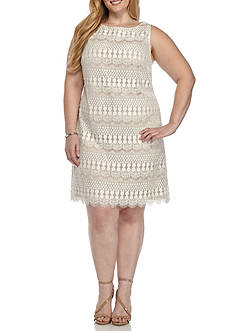 J Howard Plus Size Lace Dress