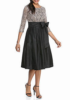 Jessica Howard Sequin Lace Bodice Fit and Flare Party Dress