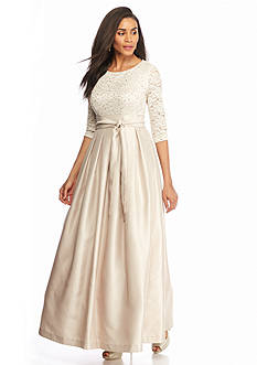 Jessica Howard Lace and Taffeta Sequin Gown