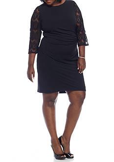Jessica Howard Plus Size Jersey Sheath Dress