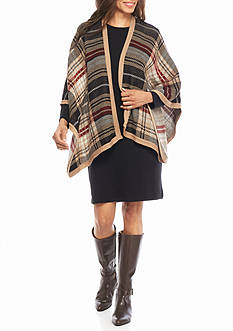 Lennie for Nina Leonard Sweater Dress with Poncho