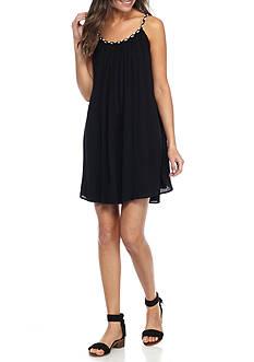 Lennie For Nina Leonard Braided Strap Shift Dress