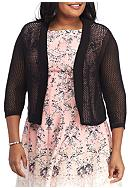 Lennie for Nina Leonard Plus Size Crochet Topper