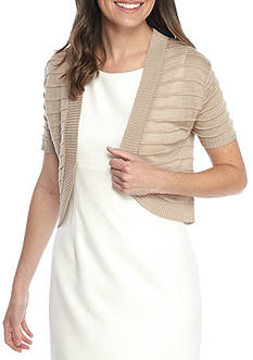 Lennie for Nina Leonard Rib Sweater Topper
