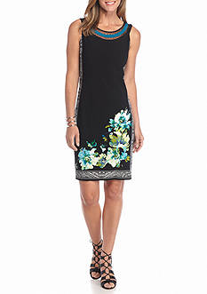Sandra Darren Floral Printed Shift Dress