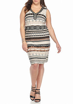 Studio 1 Plus Size Printed Shift Dress