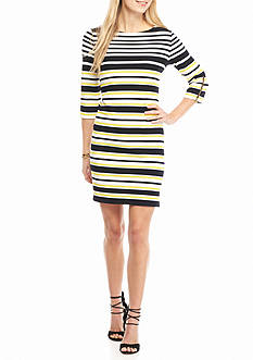Sandra Darren Stripe Shift Dress